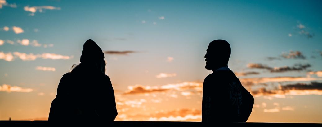 Photo by David Whittaker from Pexels https://www.pexels.com/photo/backlit-dawn-dusk-people-305249/